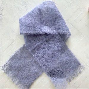 Edinburgh Woollen Mill Blue Pure New Wool Scarf